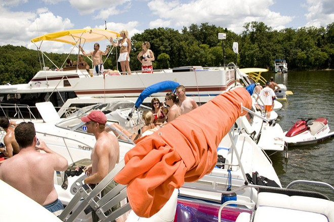 You can keep the party going at Party Cove — safely — thanks to a new app-based boat-for-hire service that hopes to open this summer in the Lake of the Ozarks. - PHOTO COURTESY OF FLICKR/BRIAN AMBROZY