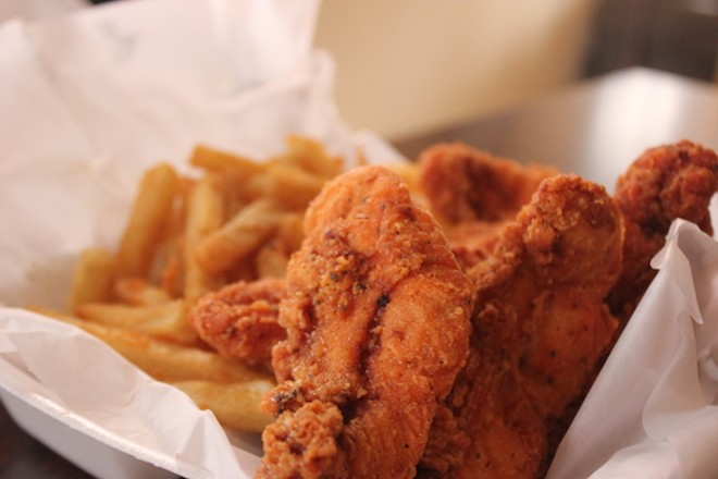 Chicken tenders are large and meaty. - PHOTO BY SARAH FENSKE