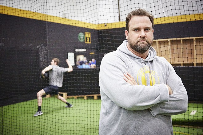 Brian Delunas' medical problems inspire his approach to training younger players. - STEVE TRUESDELL