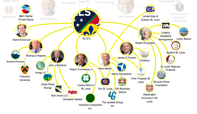 THIS MAP SHOWS THE OTHER INVESTORS OF THE STADIUM OWNERSHIP GROUP. CLICK HERE TO VIEW THE FULL INTERACTIVE MAP. IMAGE BY CAITLIN LEE