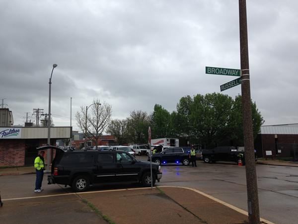 A boiler explosion killed three and injured four near Broadway and Russell Boulevard. - PHOTO BY DOYLE MURPHY