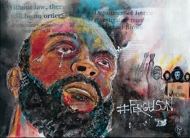 Howard Barry's work is part of Taking It to the Streets, which opens tonight at the Kranzberg Arts Center.