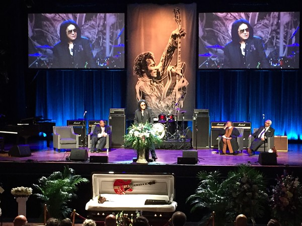 Gene Simmons of KISS addresses the crowd - PHOTO BY JAIME LEES