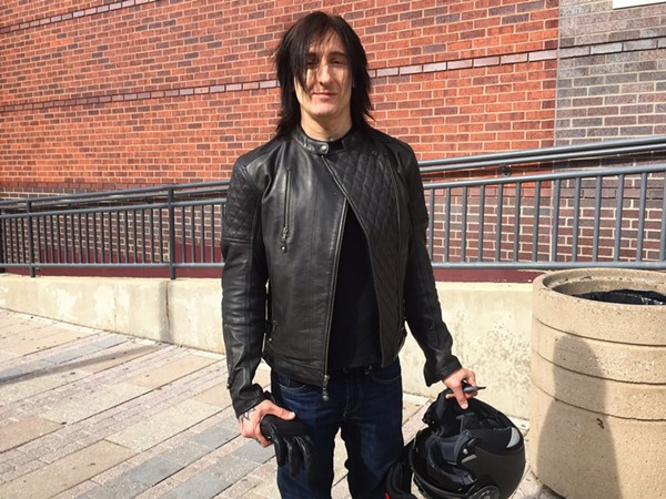 Richard Fortus stopped in to pay his respects - PHOTO BY JAIME LEES
