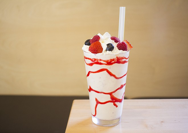 A boozy shake makes a good meal even better. - PHOTO BY MABEL SUEN