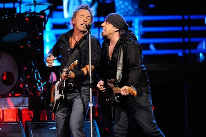 Bruce Springsteen and Steven Van Zandt performing live at Scottrade Center in 2008. - PHOTO BY TODD OWYOUNG
