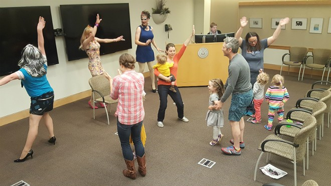 No drag event is complete without dancing to '80s hits, even in a library. - ALLISON BABKA