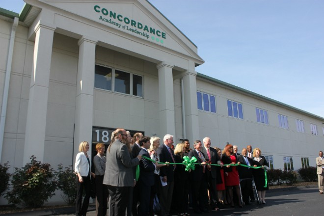 Concordance Leadership Academy celebrated a grand opening of its Maryland Heights headquarters. - PHOTO BY DOYLE MURPHY