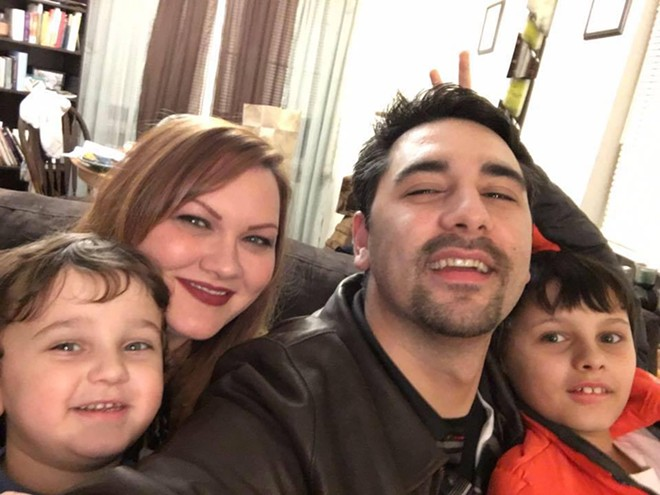 The Lee family, including two young boys, aged 5 and 9, were badly injured in freak car crash Tuesday. - VIA GOFUNDME