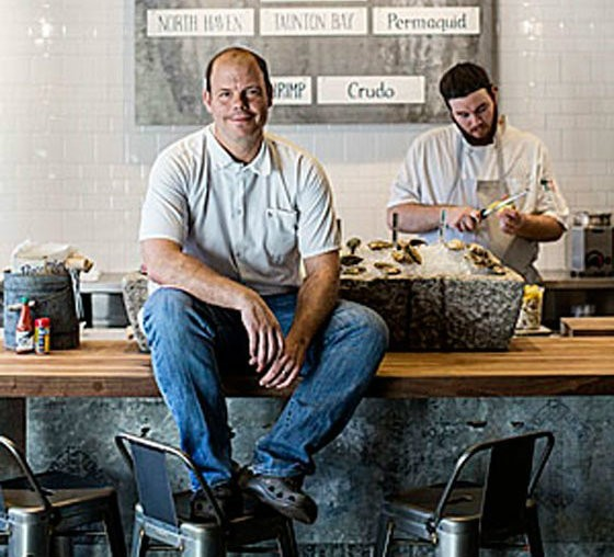 Kevin Nashan at Peacemaker Lobster & Crab Co., which he opened to great acclaim in 2014. - PHOTO BY JENNIFER SILVERBERG