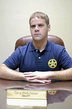 Sheriff Cory Hutcheson is facing 18 criminal charges and two federal lawsuits. - IMAGE VIA MISSISSIPPI COUNTY