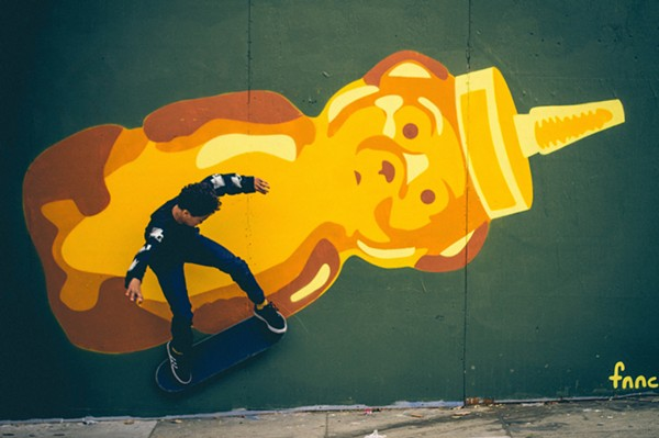 Local artist fnnch will be present at the St.Art Street Art Festival. Pictured is his Honey Bear mural, a trademark of his. - COURTESY OF ST.ART