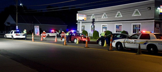 A sobriety checkpoint snares drivers. - PHOTO COURTESY OF FLICKR/VERSAGEEK