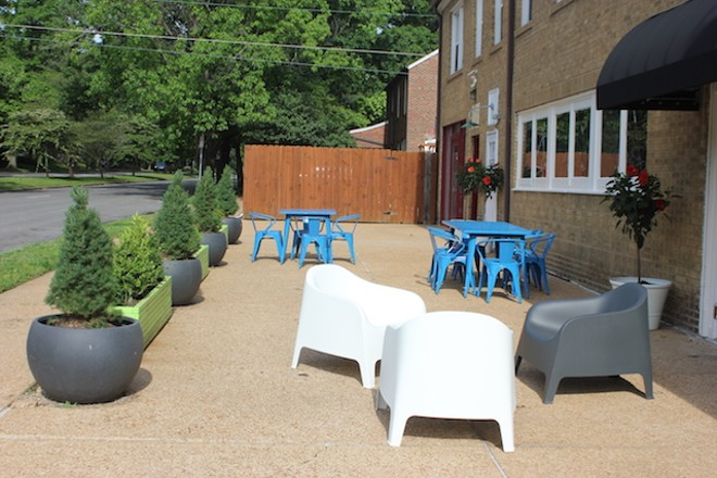 Gerhardt intends to add even more seating to the outdoor area, which faces Jackson. - PHOTO BY SARAH FENSKE