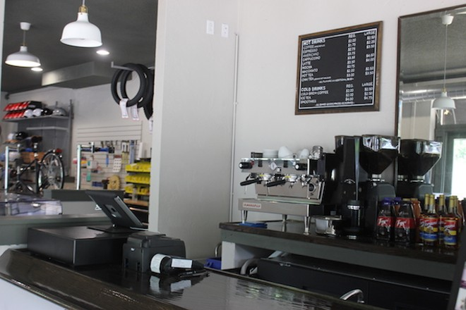 Coffee and frappucinos are on offer, as well as smoothies and some other cold drinks. - PHOTO BY SARAH FENSKE