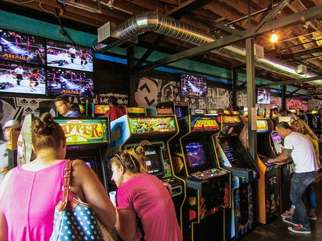 Customers enjoy Minneapolis' Up-Down Arcade Bar. - DAVID HAYDEN/COURTESY OF UP-DOWN
