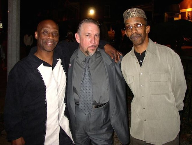 Stacy Johnson, far left, with Tom Ray and Darrick Shakir. - COURTESY OF PAPA RAY