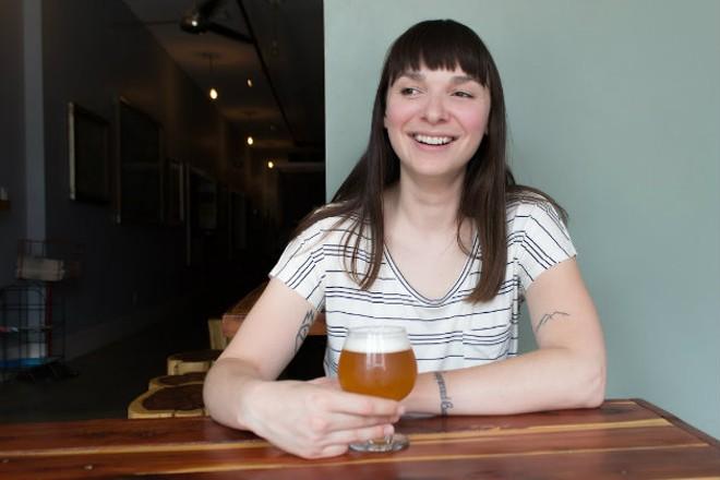 Rebecca Schranz of Earthbound Beer. - SARA BANNOURA
