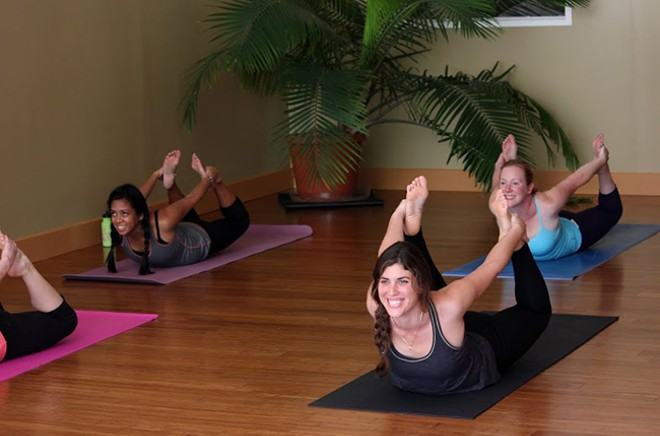 Get in a yoga state of mind. - COURTESY OF PRACTICING YOGA STUDIO