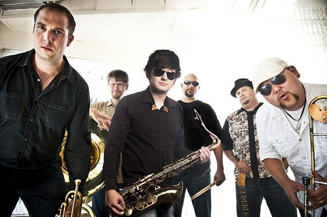 Funky Butt Brass Band will cause a ruckus at the library as part of the Not So Quiet! series. - PHOTO BY COREY WOODRUFF