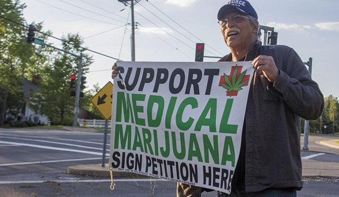 Jeff Mizanskey, who spent 22 years in prison for non-violent marijuana offenses, gathered signatures for Missouri's failed 2016 ballot initiative. - PHOTO BY DANNY WICENTOWSKI