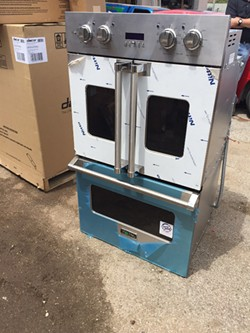 High-end stoves and other appliances were among the stolen items. - IMAGE VIA ST. LOUIS COUNTY POLICE DEPARTMENT