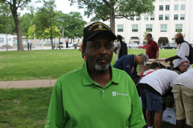 James Williams says St. Louis homeless shelters are too crowded most nights. - PHOTO BY DOYLE MURPHY