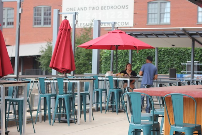 On the patio is a third bar. - PHOTO BY SARAH FENSKE