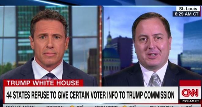 Missouri SOS Jay Ashcroft sparred with CNN's Chris Cuomo on Wednesday. - VIA CNN