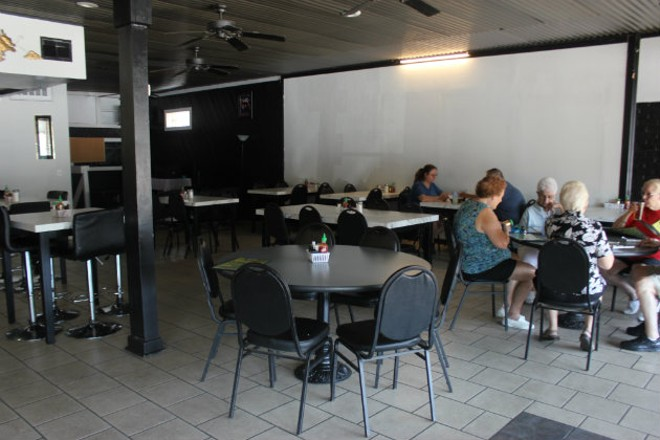 The large Southampton storefront has ample seating. - CHERYL BAEHR