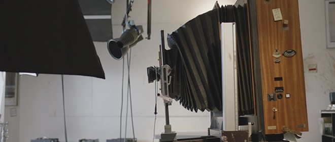 Dorfman utilized a rare, large-format version of the Polaroid Corporation's famous instant camera (one of only eight produced). - COURTESY OF NEON