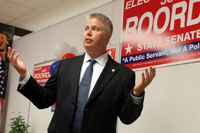 "Jeff Roorda to the city: ""Show us the money."" - PHOTO BY DANNY WICENTOWSKI"