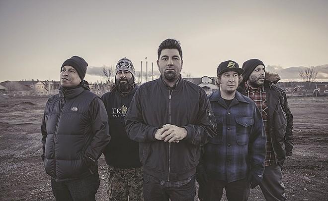 "Frank Delgado, far right, says the Deftones will press on until it's ""no longer fun."" - PHOTO BY FRANK MADDOCKS"