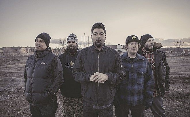 "Frank Delgado, far right, says the Deftones will press on until it's ""no longer fun."" - PHOTO BY FRANK MADDOCKS"