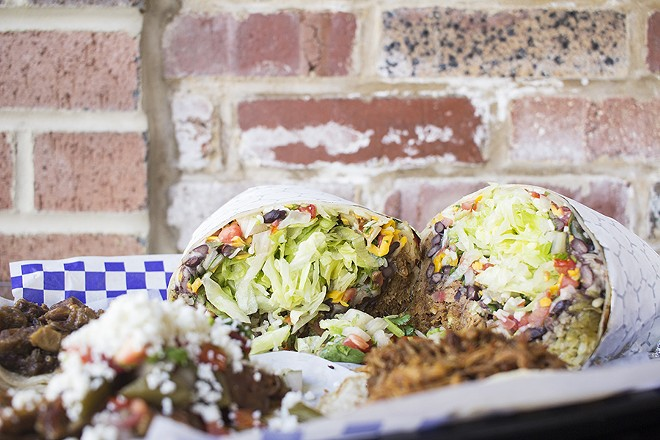 Burritos are downright huge. - PHOTO BY MABEL SUEN