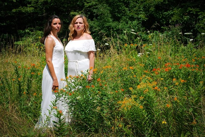 Ellie Schwetye and Rachel Tibbetts will swap roles throughout the run of The Color of August. - JOEY RUMPELL