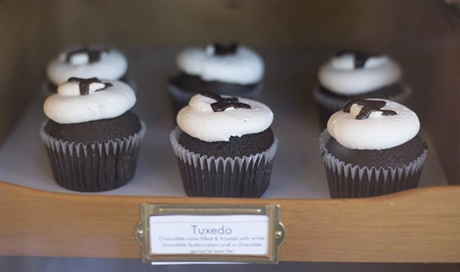 "The ""Tuxedo"" cupcake. - PHOTO BY TAYLOR VINSON"