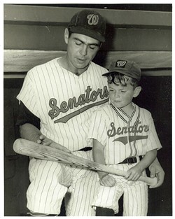 Major Leaguer Ken Hunt hangs out with his famous stepson, Butch Patrick, to a father-son game. - COURTESY OF BUTCH PATRICK