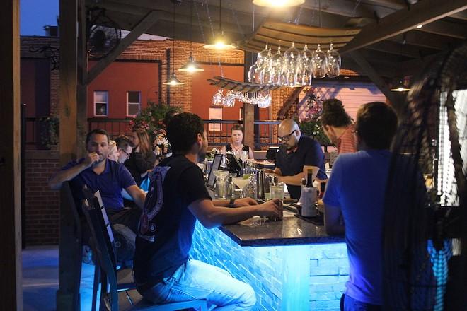 The bar at Bronson House. - PHOTO BY SARAH FENSKE