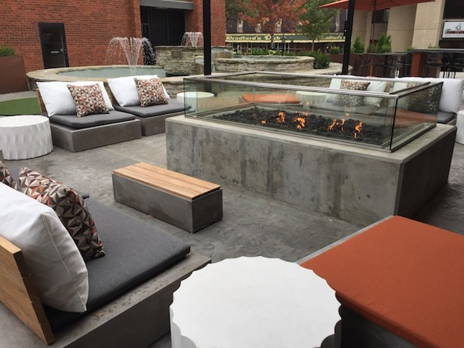 The place also offers an extensive outdoor area, complete with a fire pit. - PHOTO COURTESY OF NANCY MILTON