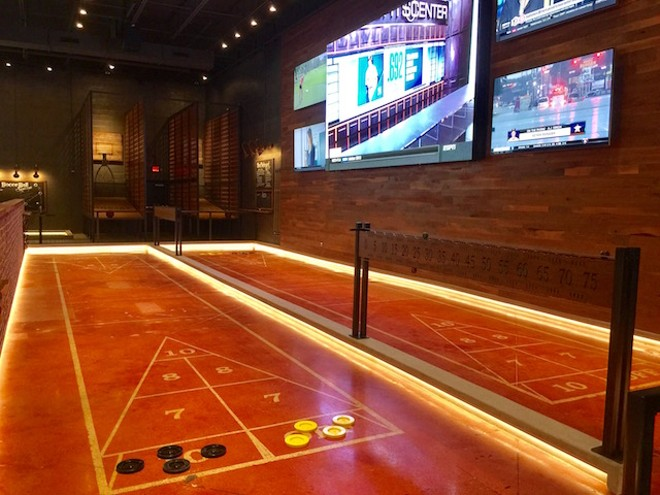 These aren't your grandmother's shuffleboard tables. - PHOTO COURTESY OF NANCY MILTON