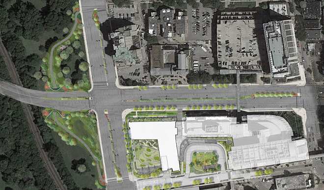 The new intersection of Kingshighway and Forest Park Parkway reopens today. - IMAGE VIA BARNES-JEWISH HOSPITAL