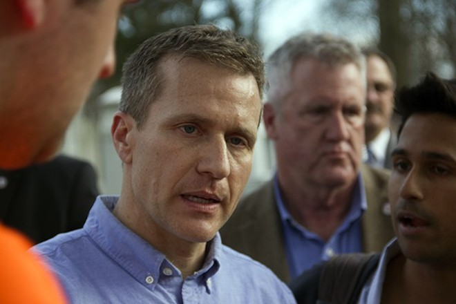 Governor Eric Greitens allowed a bill to become law that would take away the city's minimum wage increase. - PHOTO BY DANNY WICENTOWSKI