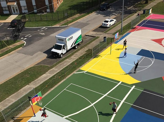 A closer view of the Kinloch courts. - COURTESY OF DANIEL PETERSON