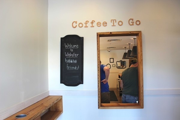 The to-go coffee window is sure to be a hit. - PHOTO BY LAUREN MILFORD