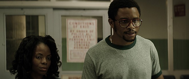Nnamdi Asomugha, a former NFL cornerback, plays Warner's childhood best friend, who fights for his exoneration. - AMAZON STUDIOS