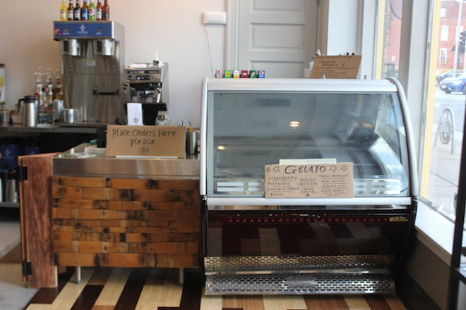 Customers order at the front counter. Soon, they'll also be offering gelato. - PHOTO BY SARAH FENSKE