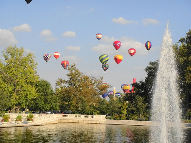 The Great Forest Park Balloon Race is back this weekend. - PHOTO COURTESY OF FLICKR / DAVID SHANE