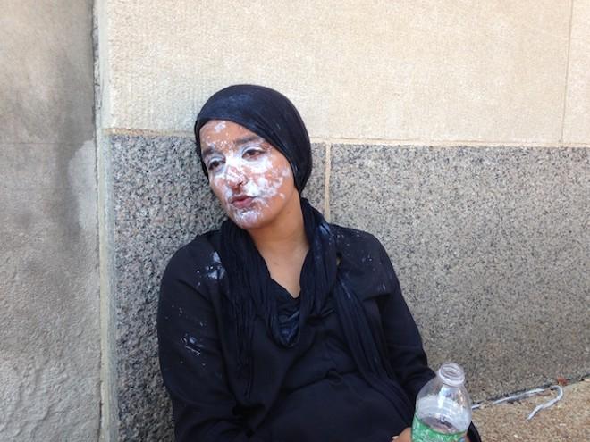 Maleeha Ahmad, 28, was pepper-sprayed by police. - PHOTO BY DOYLE MURPHY