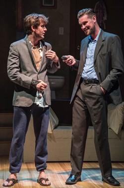 Matt (Spencer Sickmann) meets Connor (Ryan Scott Foizey) at a party. - PATRICK HUBER